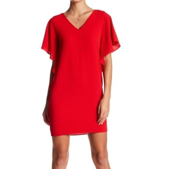 efdf312b Eliza J Dresses | Ruffle Sleeve Dress | Poshmark